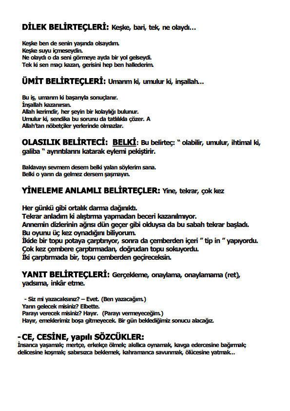 Diger Zarflar Calisma Kagidi Turkceci Net Turkce Testleri