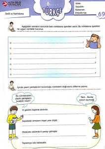 6 Sinif Calisma Kagidi Turkceci Net Turkce Testleri