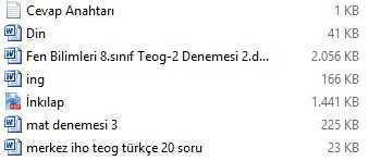 Tüm Dersler Teog Denemesi 3 Turkcecinet Türkçe Testleri