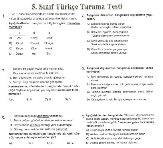 Screenshot_1 5. Sınıf Türkçe Denemesi 36 Soru