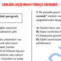 8. Sınıf Türkçe Deneme Sınavı (Yeni Sistem)