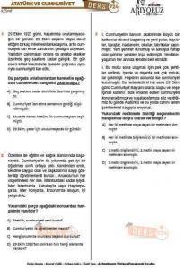 Türkçe Deneme Sınavı (2)