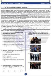 Yarış Ortaokulu Türkçe Deneme Sınavı2