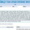 Türkçe LGS Tam Uyum Deneme Sınavı – 4
