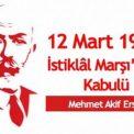 12 Mart Okul Kutlama Programı