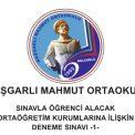 Kaşgarlı Mahmut Ortaokulu LGS Deneme Sınavı