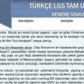 Türkçe LGS Tam Uyum Deneme Sınavı (7)