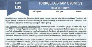 Türkçe LGS Tam Uyum Deneme Sınavı
