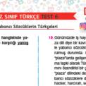 7. Sınıf Yabancı Sözcüklerin Türkçeleri Testi