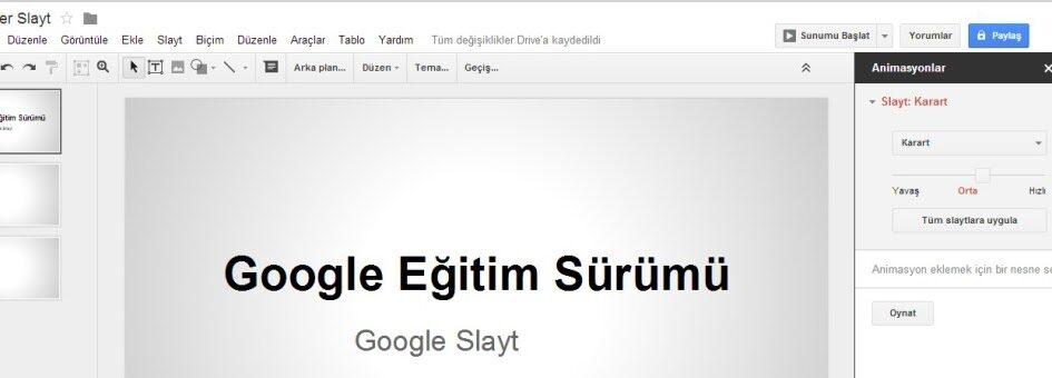 Fen Bilimleri: Google Slaytlar
